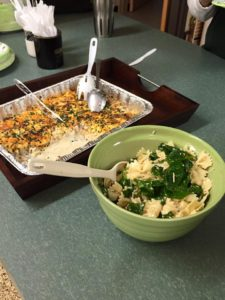 Judy's loaded cauliflower is always a hit at our meetings