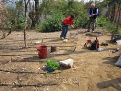 Buckets of Rain installs a gravity fed drip irrigation system in San Mateo, Guatemala. Photo by BucketsofRain.org