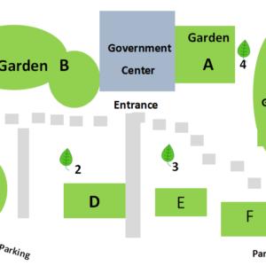 Government Center Gardens Map